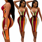 US Sexy Women Lady Bandage Bodycon Evening Party Cocktail Club Short Mini Dress