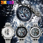 SKMEI Mens Stainless Steel Quartz Analog Date Sports Waterproof Wrist Watch Gift image