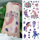 unusual tattoo design - Glitter Body Tattoo Waterproof Sticker Cartoon Unicorn Design Temporary Children