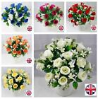 12 bunches artificial silk rose with gyp bouquet wedding in/outdoor Joblot bulk