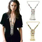 Bohemian Bead Long Tassel Pendant Necklace Charm Chain Women Jewellery Gift Boho