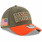 CLEVELAND BROWNS New Era 2017 Salute To Service 39THIRTY Flex Hat – Olive