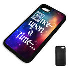 ONCE UPON A TIME GALAXY QUOTE PROTECTIVE PHONE CASE COVER fits Iphone BLACK