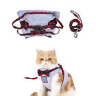 Safety Outdoor Cat Supplies Vest Harness Leash Set Grid Strap Lead Traction Rope