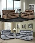 The Room Fad Microfiber Sofa and Loveseat Living Room Furniture Set, Brand New
