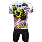 Cycling Bike Short Sleeve Clothing Bicycle Sportwear Suit Jersey + Shorts M-3XL
