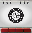 Seattle Mariners Logo Wall Decal MLB Sport Sticker Decor Black Vinyl CG512 on Ebay