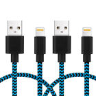 3FT 6FT Apple MFI Certified Lightning Cable Nylon Braided For iPhone 6 7 8 Plus