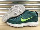 Nike Flyknit Chukka Spikeless Golf Shoes Rio Teal Turquoise SZ ( 819009-300 )