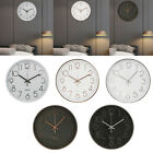 12 Modern 3D Silent Non Ticking Quality Quartz Wall Clock 12H Display Easy Read