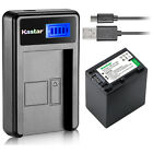 Kastar Battery LCD Charger for Sony NP-FV100 Sony FDR-AX100 FDR-AX100E FDR-AX700
