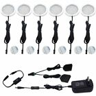 AIBOO Under Cabinet LED Puck Lights Kit with Touch Dimming Switch for Ambiance