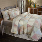 FARMHOUSE BEDDING Ava Triangle Patch QUILT SET - Build your own Bedroom VHC