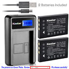 Kastar Battery LCD Charger for Fuji NP-60 & Fujifilm FinePix M603 Zoom Camera