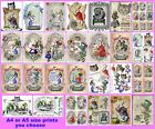 Alice In Wonderland decoupage tissue paper A4 or A5 size - 27 designs you choose