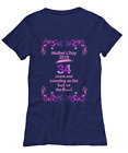 Mother's Day 2018, 34 Years T-Shirt - Women's Tee