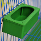Plastic Green Food Water Bowl Bird Parrot Pigeons Cage Feeder Feeding Accessory