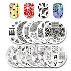 3Pcs Kit BORN PRETTY Nail Art Stamping Plate Round +Stamper & Scraper Collection