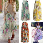 Womens Floral Skirt Dress Boho Long Maxi Full Beach Sun Dress Evening Dresses