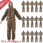 1-100 X Leaf Ghillie Suit Camo Camouflage Clothing 3D jungle Hunting L/XL LOT MX