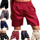 Men's Sleepwear Underwear Silk Satin Boxers Shorts Nightwear Pyjamas L XL XXL