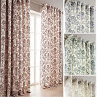 Chloe Floral Print Lined Eyelet Curtains - Stock Must Go Now £10, £15, £20 Pair