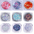 3D Nail Art Decoration AB Color Triangle Round Heart Flakies Glitters Sequins