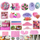 60 Silicone Fondant Mold Cake Decorating Candy Chocolate Sugarcraft Baking Mould image