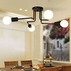 4/6/8 Way Retro Ceiling Light Modern Vintage Industrial Metal E27 Pendant Lamp