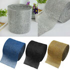 Bling Diamond Mesh Wrap Ribbon Rhinestone Crystal Roll Wedding Party Supplies