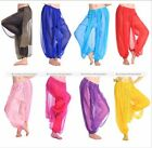 Belly Dance Harem Pants Bollywood Dancing Shinny Balloon Bloomers Pants US
