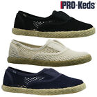 LADIES KEDS SUMMER SLIP ON CASUAL CANVAS PUMPS SHOES PLIMSOLLS TRAINERS SIZE NEW