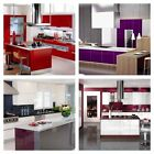 Gloss Vinyl Wrap KITCHEN Cabinet Bedrooms Furniture Vinyl Wrap Air Bubble Free