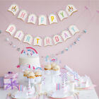 Unicorn Happy Birthday Banner Baby Shower Bunting Garland Hanging Party Decor