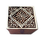 Hand Carved Wooden Printing Blocks Indian Textile Fabric Square Stamps