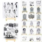 Transparent Silicone Clear Rubber Stamp Cling DIY Diary Scrapbooking Card Craft
