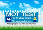 MOT TEST For£ PVC Printed Banner for fence or garage wall 6013