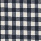 Linen & Cotton Rustic Gingham - Navy - Dressmaking Quilting Fabric