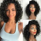 "180% Density Pre Plucked Brazilian Curly 360 Lace Frontal Wigs Baby Hair 10""-22"""