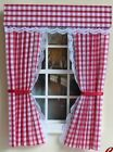 DOLLS HOUSE CURTAINS GINGHAM - VARIOUS COLOURS