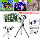 For Mobile Phone 18X Zoom Optical Telescope Telephoto Camera Lens +Holder Tripod