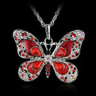 Bijoux Crystal Women New Long Holiday Gift Fashion Butterfly Necklace Jewelry