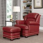 Home Styles Winston Stationary Fellowship Chair with Optional Ottoman