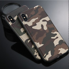 Army Camo Camouflage Hard Back Phone Case Cover For Apple iPhone X 6S 7 7 8 Plus