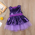 Toddle Kids Baby Girls Sequins Princess Dress Party Wedding Gown Formal Dresses