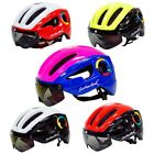 Adult MTB Cycling Bicycle Road Bike Safety Helmet Hard Hat Cap With Visor Lens