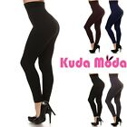 Women Thick High Waist Tummy Compression Slimming Leggings French Terry Lining