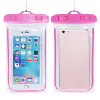 Waterproof Fluorescent Case Cover Swimming Dry Bag Pouch For iPhone Mobile Phone New