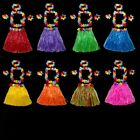 hula costumes - Hot Hawaiian Hula Skirt and 4PC Lei Set Ladies Fancy Dress Short Fashion 40CM