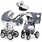 RIKO BRANO  ECCO PRAM 3in1 CARRYCOT + PUSH CHAIR + CAR SEAT + EXTRAS ! <br/> Rain cover+Large diaper bag+Hands warmer+Mosquito net